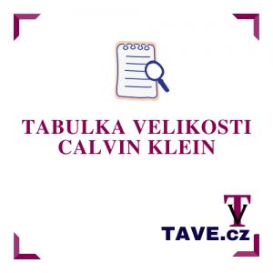Tabulka velikosti CALVIN KLEIN